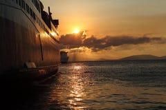 Statek i morze zdjęcia royalty free