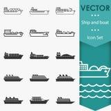 Statek ikony wektorowe Zdjęcia Stock