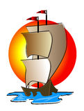 statek ilustracyjny ilustracji