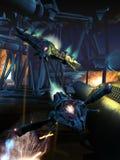Statek kosmiczny bitwa Fotografia Stock