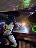 Statek kosmiczny kontrola royalty ilustracja