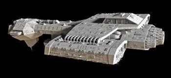 Statek kosmiczny na czerni - boczny widok Obraz Stock