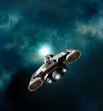Statek kosmiczny wchodzić do wormhole ilustracja wektor