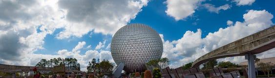 Statek kosmiczny ziemia przy Epcot centrum w Orlando Floryda Zdjęcia Royalty Free