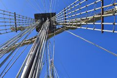 statek masztowy wysoki Obraz Royalty Free