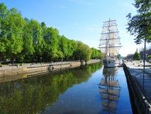 Statek Meridianas w Klaipeda, Lithuania Zdjęcia Royalty Free