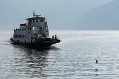 Statek na Como jeziorze, Włochy Obraz Royalty Free