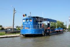 Statek na Danube delty kanale Zdjęcia Royalty Free