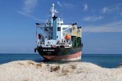 Statek na mieliźnie Fotografia Stock