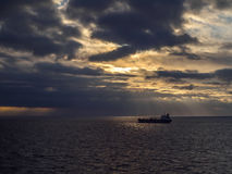Statek na morzu Obrazy Royalty Free