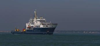 Statek na otwartej wodzie Fotografia Royalty Free