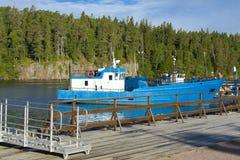 Statek na wyspie Valaam Zdjęcia Stock
