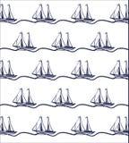 Statek łodzi wzór Fotografia Stock