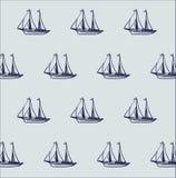 Statek łodzi wzór Zdjęcia Royalty Free