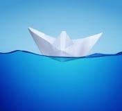 statek papierowa zabawka Zdjęcia Stock