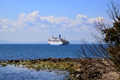 Statek przy Czarnym morzem Obraz Royalty Free