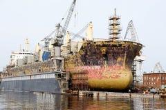 Statek przy dokiem Fotografia Stock