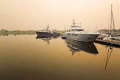 Statek przy dokiem Fotografia Royalty Free