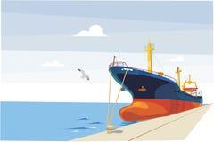 Statek przy molem Fotografia Stock