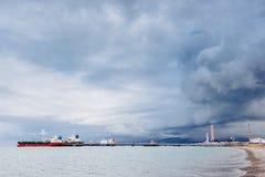Statek przy morzem Fotografia Royalty Free