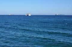 Statek przy morzem w Cypr Obrazy Royalty Free