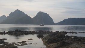 Statek przy Palawan na morzu Obrazy Stock