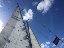 Statek przy Saona wyspą obrazy royalty free