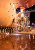 Statek przy stocznią dla napraw Obrazy Stock