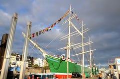Statek Rickmer Rickmers w Hamburskim porcie Zdjęcia Stock