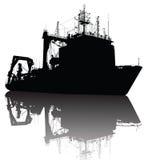 statek sylwetka Obraz Royalty Free