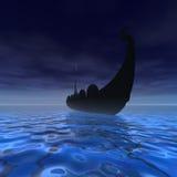 statek Viking royalty ilustracja