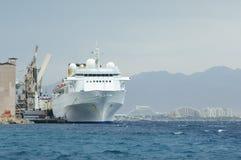 Statek w Eylat schronieniu zdjęcie stock