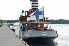 Statek w Lappeenranta schronieniu na Saimaa jeziorze Zdjęcia Royalty Free