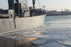 Statek w lodach Fotografia Stock