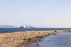 Statek w morzu Fotografia Stock