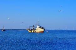Statek w morzu Fotografia Royalty Free