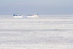 Statek w morzu bałtyckim Zdjęcia Stock