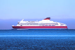Statek w morzu bałtyckim Zdjęcia Royalty Free