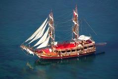 Statek w porcie Alanya, Turcja Zdjęcie Royalty Free