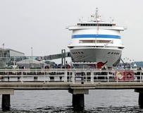 Statek w porcie Kiel Obrazy Stock