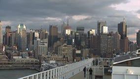 Statek w porcie Nowy Jork zbiory wideo