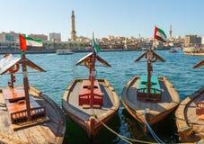 Statek w porcie Powiedział w Dubaj, UAE zdjęcia stock