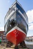 Statek w portowym czekaniu dla utrzymania, Nordstrand zdjęcie stock