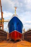 Statek w suchym doku Fotografia Stock