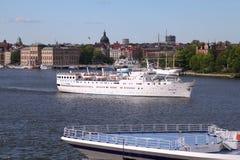 Statek w Sztokholm Zdjęcie Stock