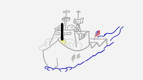Statek wojenny zbiory
