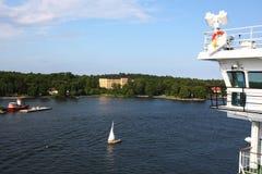 Rejsu żeglowanie w Stockholm Zdjęcia Stock