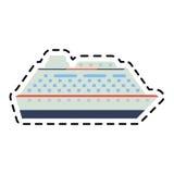 Statek wycieczkowy ikony wizerunek Fotografia Royalty Free