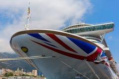 Statek wycieczkowy MV Azura w porcie Monaco Obraz Stock