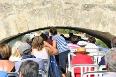 Statek wycieczkowy na kanale du Midi Obraz Royalty Free